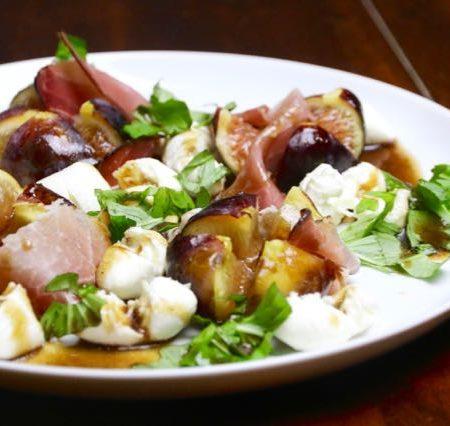 Feige Mozzarella Parmaschinken Salat