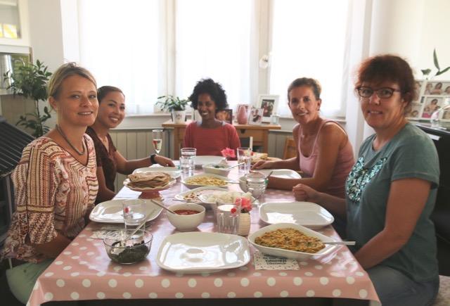 südindischer Kochkurs alle Teilnehmer